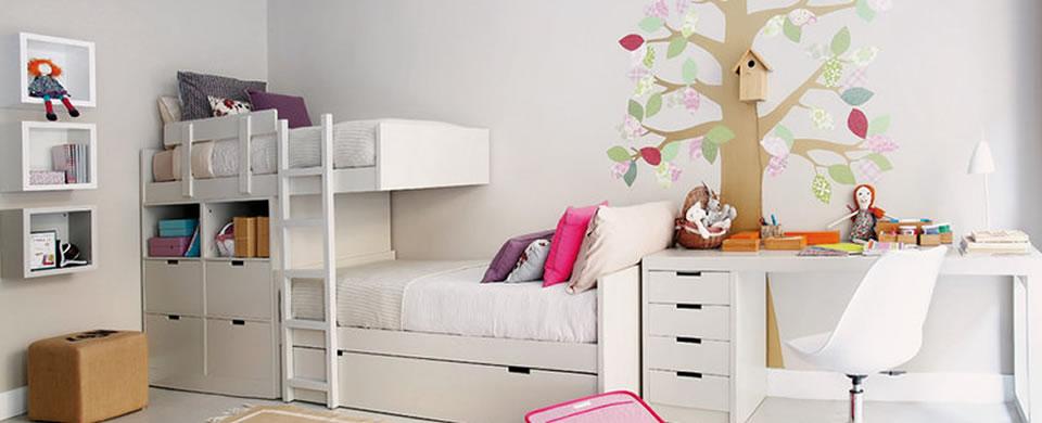 Dormitorios infantiles funcionales y originales conejo - Dormitorios infantiles dobles ...